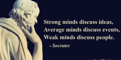 Sarah Watching Socrates Quote Strong Minds Discuss Ideas