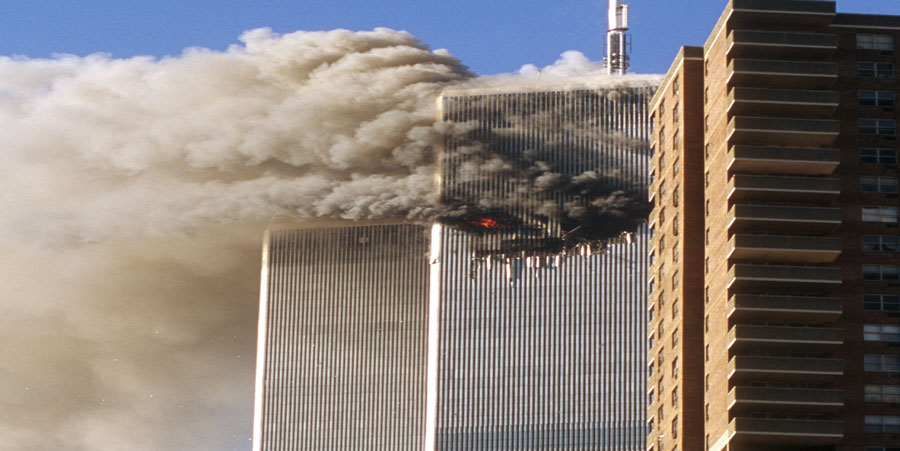 Sarah Watching 911 Twin Towers Attack NY