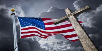 arah Watching Christianity Growing Stronger In US American Flag Cross