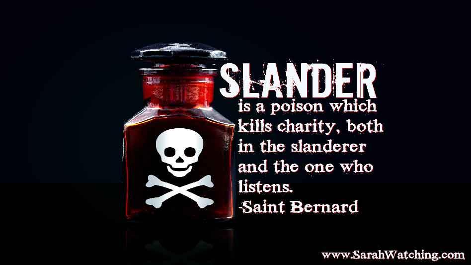 Sarah Watching Saint Bernard Quote Slander Is A Poison