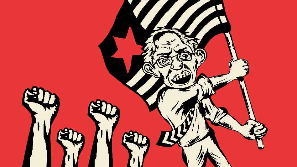 Sarah Watching Bernie Sanders Communist And Proud Of It